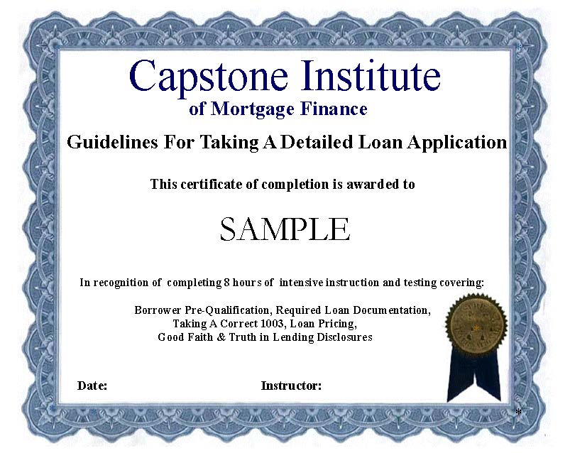 Certificate GFTADLA