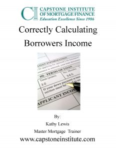 Correctly Calculating Borrowers Income