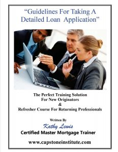 self paced courses for taking loan applications