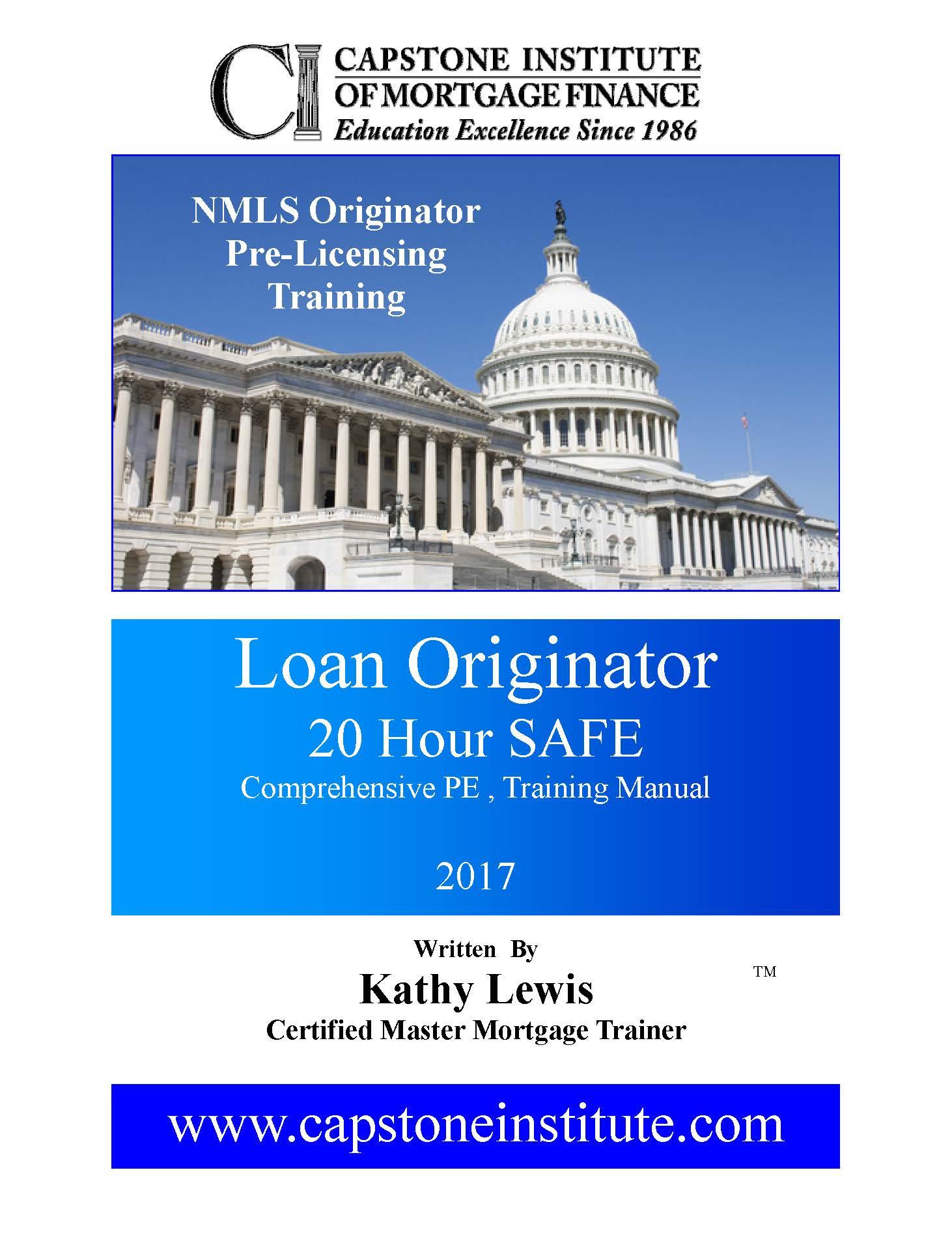 NMLS Pre-licensing 20 Hr. Comprehensive PE Dec 6-7-8th