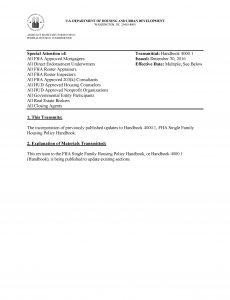 FHA Refresher - The HUD 4000.1 Handbook