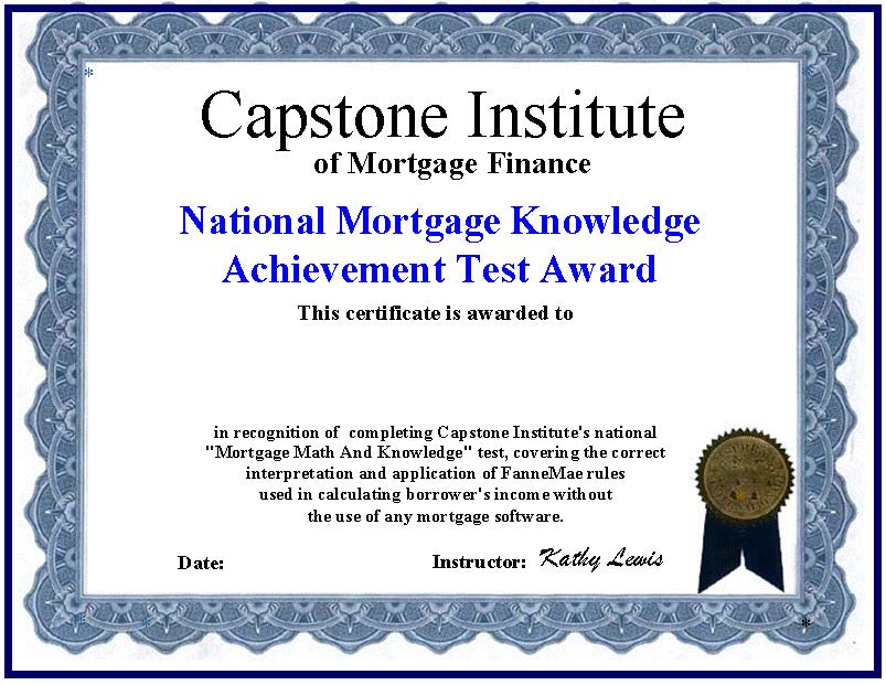 certified mortgage specialist